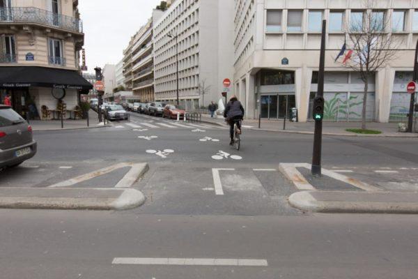 Participory Democracy bycicle road in Paris