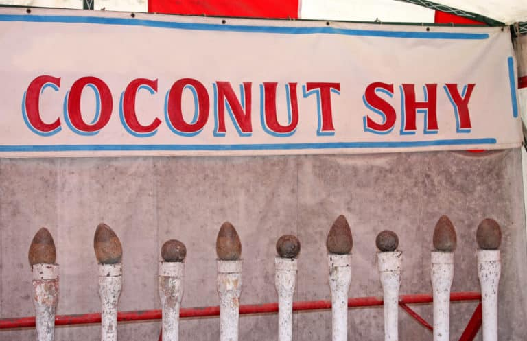 A coconut shy election