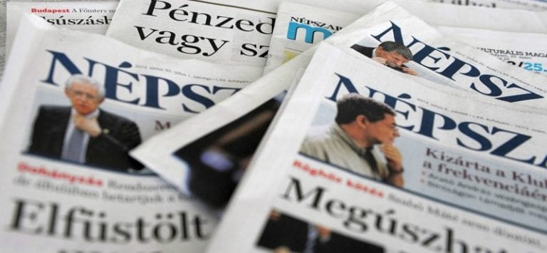 The freedom of the media and the suspension of the Hungary's largest independent newspaper