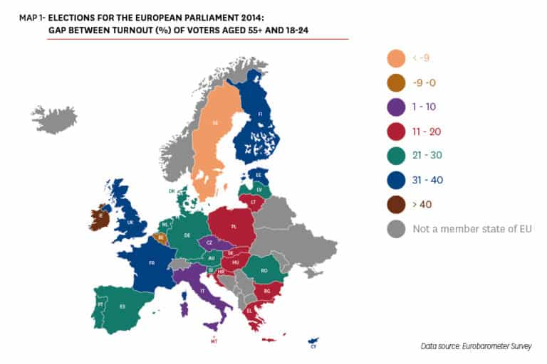 Youth Participation in EU Elections is Falling: Differences across Member States